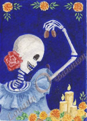 Day of The Dead, An Artpiece in Acrylics.